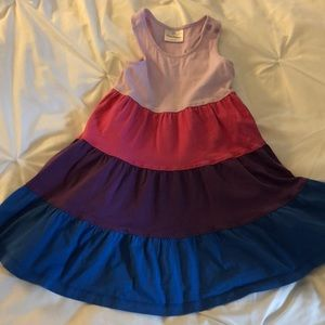 Hanna Andersson Twirl Colorblock Dress size 100